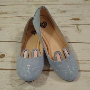 Tuk Baby Blue Bunny Flats